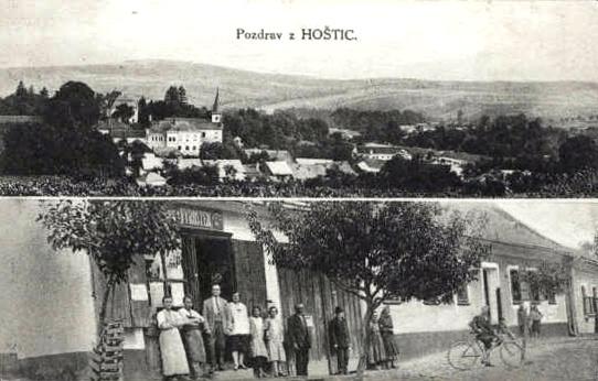 Hoštice roku 1920